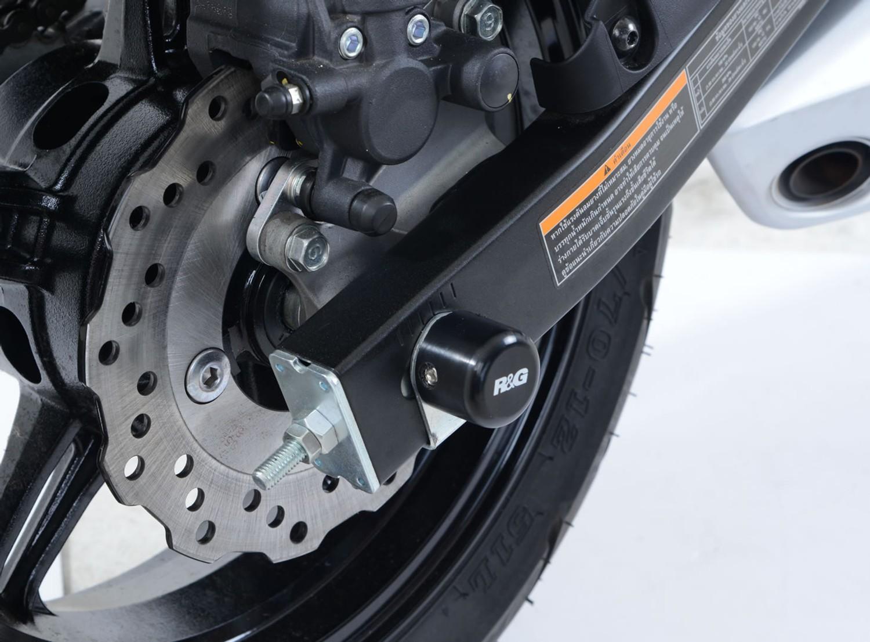R&G Swingarm Protectors for the Kawasaki Z125 / Z125 Pro '16- SP0073BK